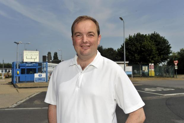 James Duddridge MP, outside the MoD site in Blackgate Road