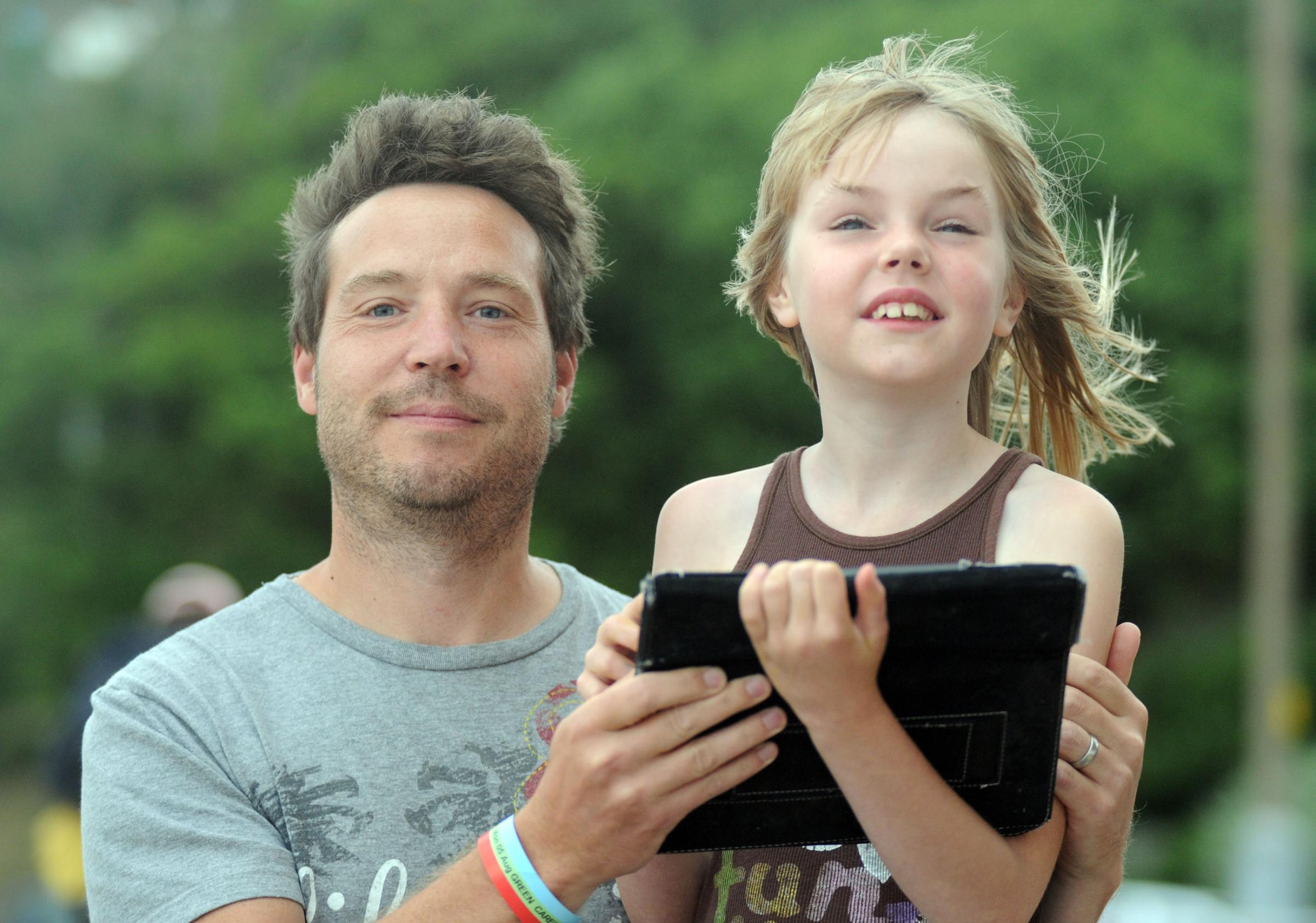 Ian Jones with daughter Nieve