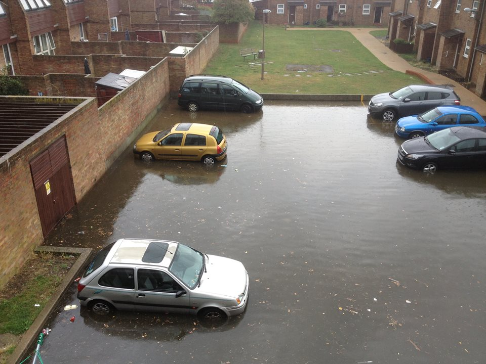 Reader pictures: Flooding around the Kursaal in Southend