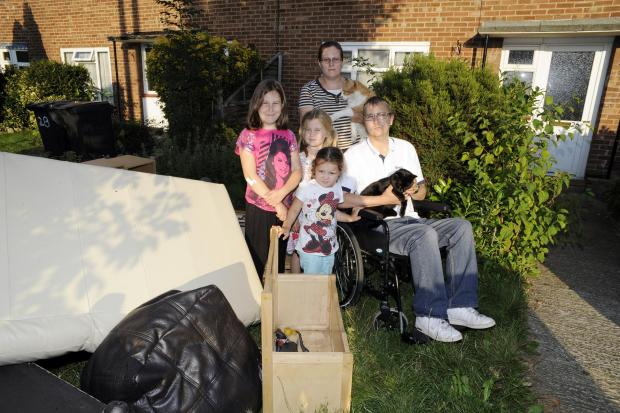 Disabled man and family still homeless after the floods
