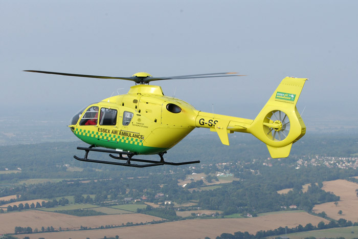 Air ambulance called to collapsed man in town centre