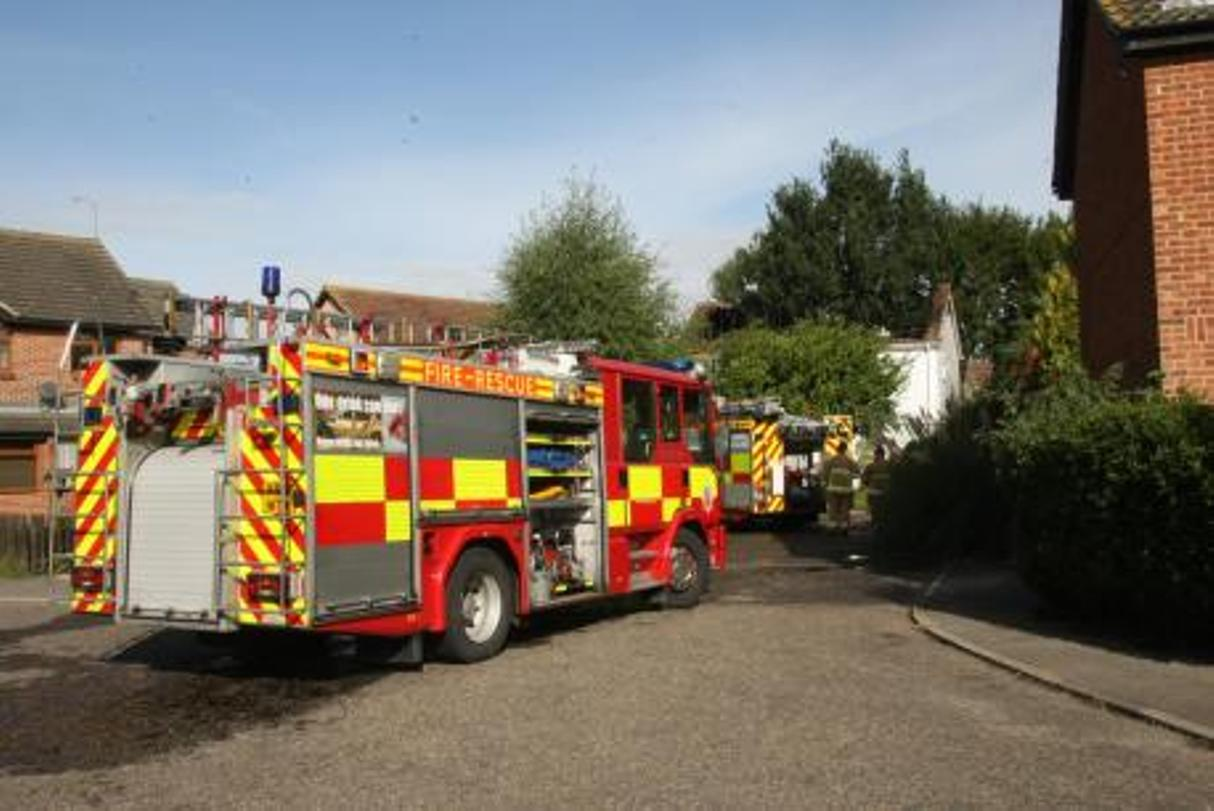 The fire started in the blocked flue of the gas boiler at a property on St Margarets Avenue shortly before 9am.