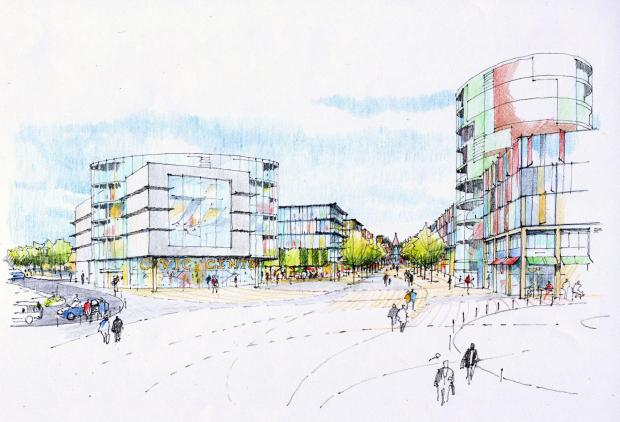 Grand designs – an artist's impression of the new cinema envisaged in the town centre masterplan