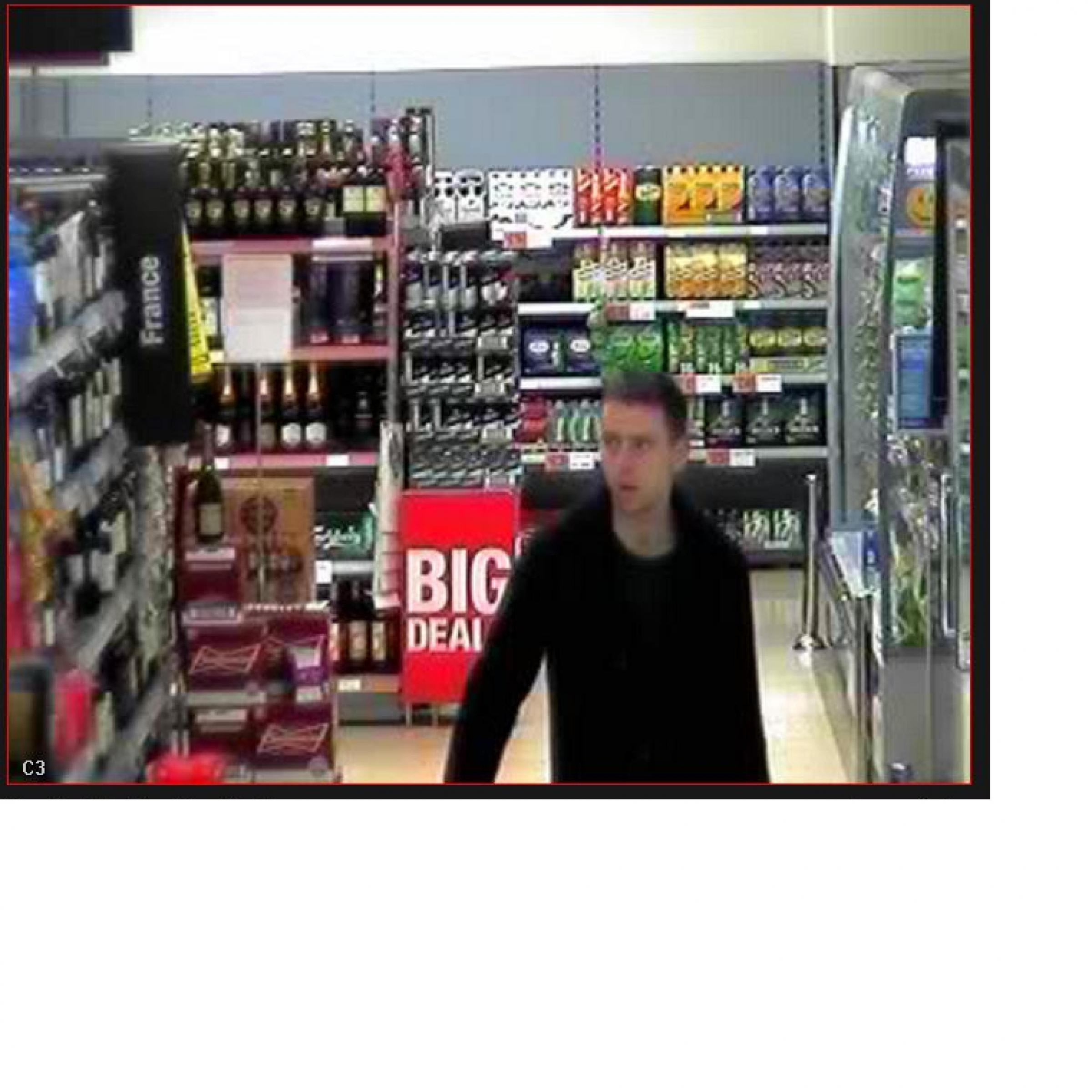 Staff chase off would be shoplifter after he tries to steal £200 of alcohol
