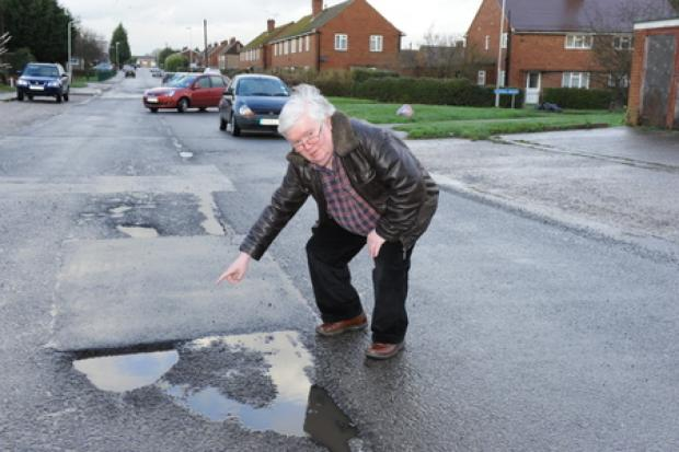 Awful road surface – says councillor Phil Rackley