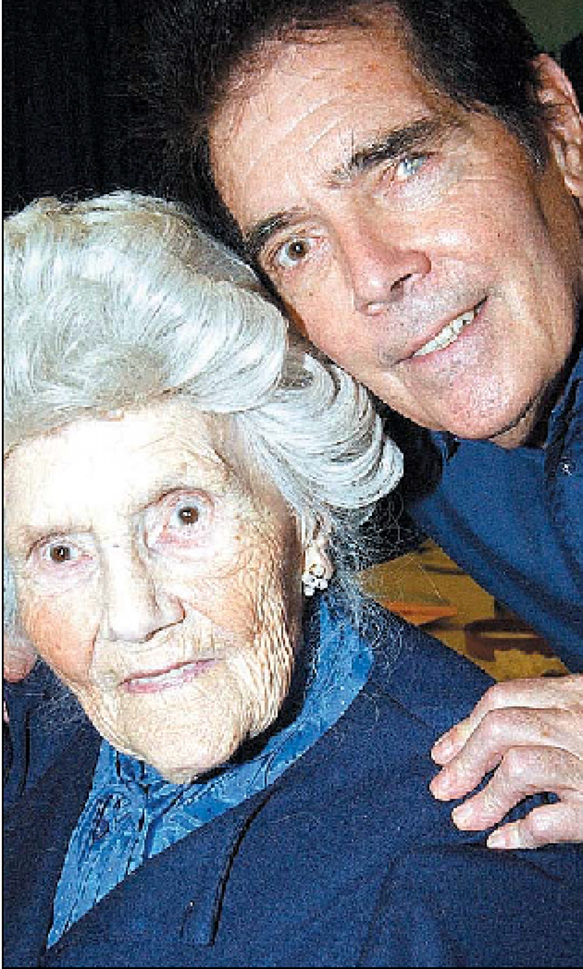Tributes - Brian Darvell with late mother Hilda in 2007