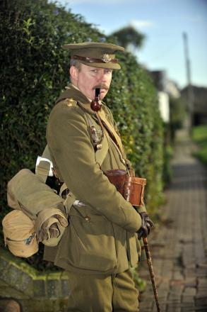 Ian's walking 54 miles in 3 stone WWII uniform