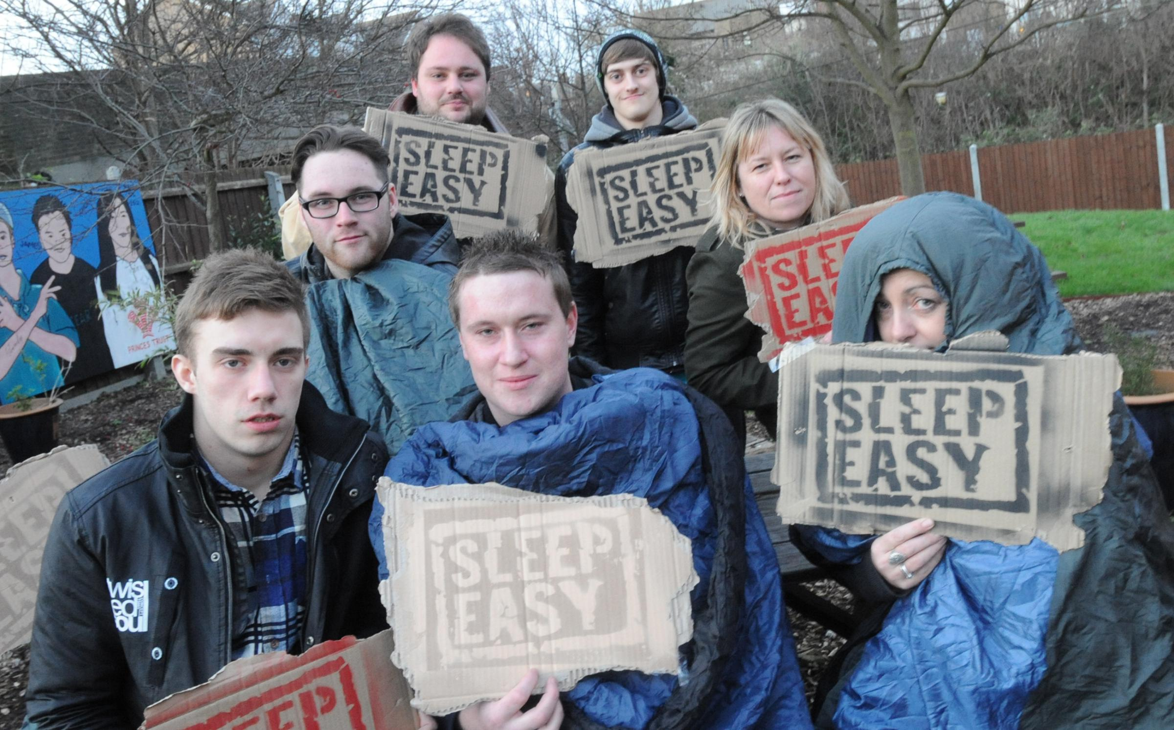 Heading out – volunteers for the Sleep Easy event