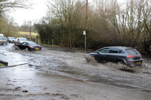 Flooding in Stock Road, Billericay