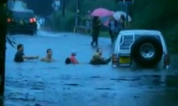 Rescue in Greensward Lane, Hockley in August. From Youtube video by Andrew Cause