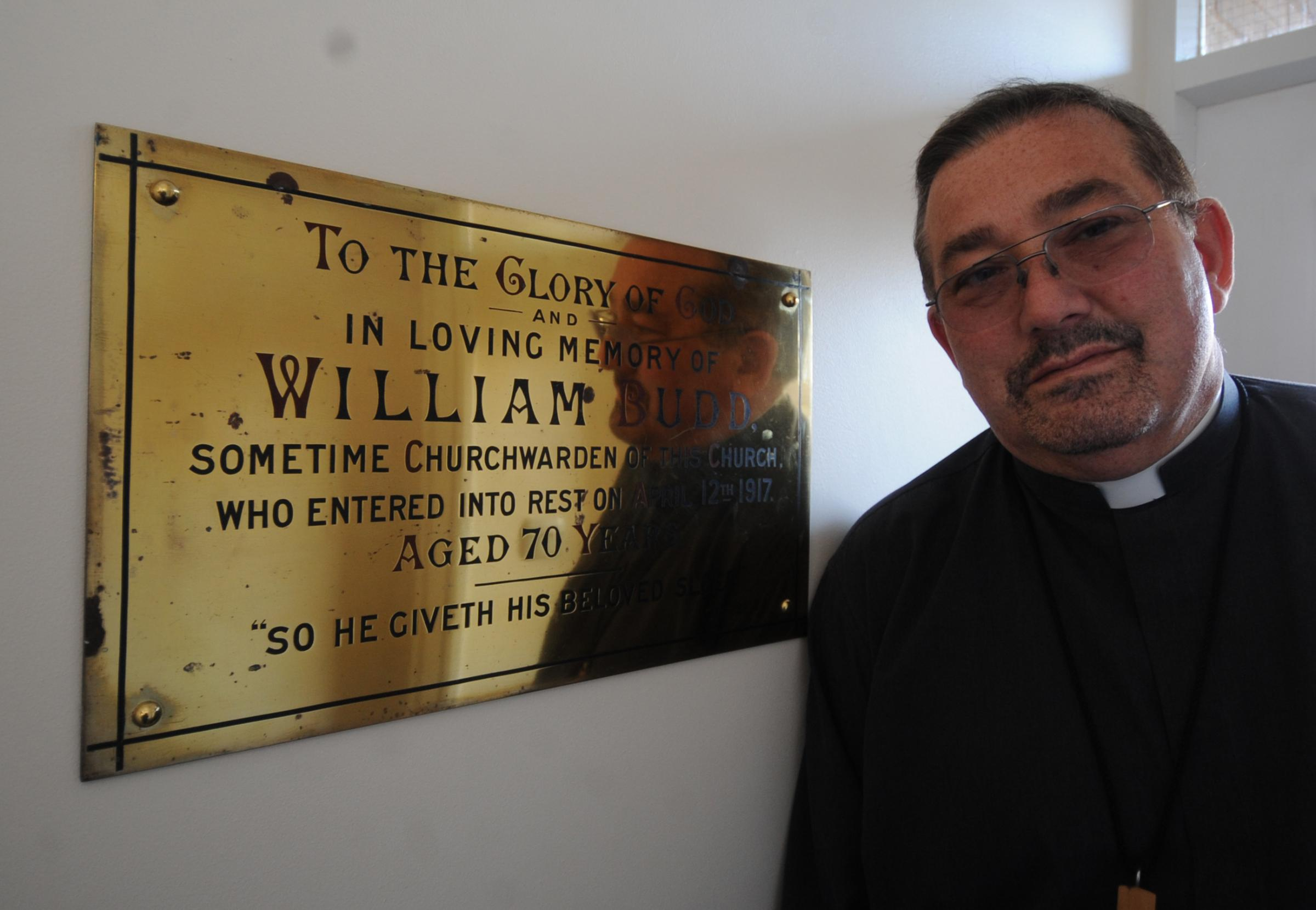 Reverend discovers plaques buried for 40 years in garden of Canvey church