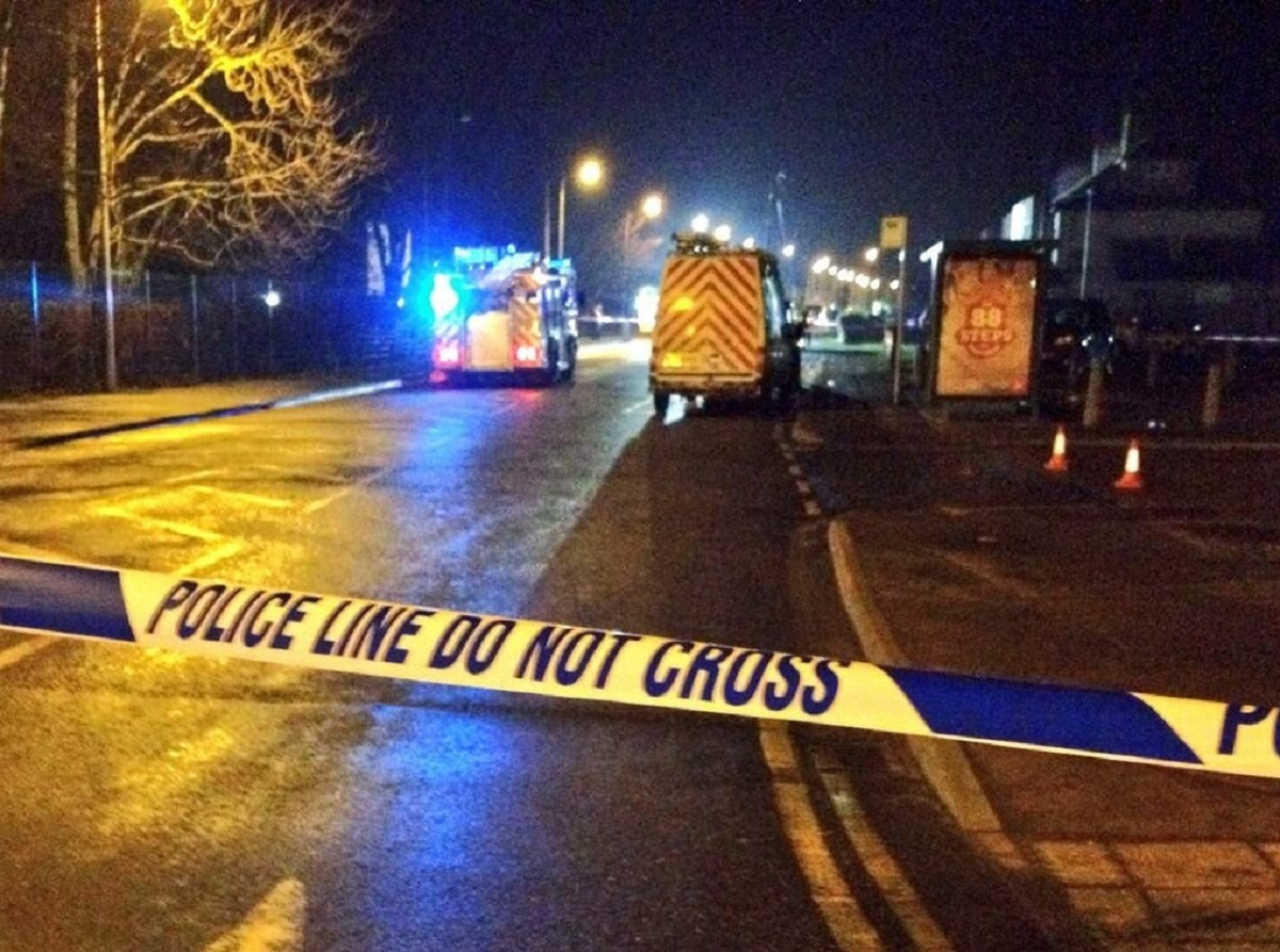 Rochford road closed after power cables catch light