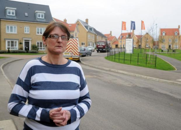 Southend Standard: Lorry worries - resident Ellen Towsend in School Avenue, Laindon