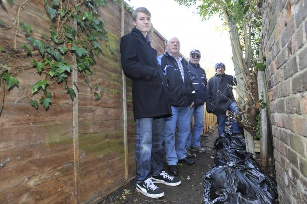 Southend Standard: The Westborough Community Association at an alley clean up last year