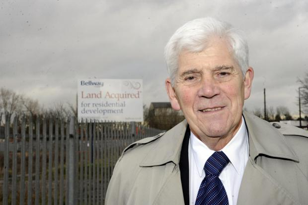 Ted Lewin in front of the site Bellway Homes has earmarked for homes
