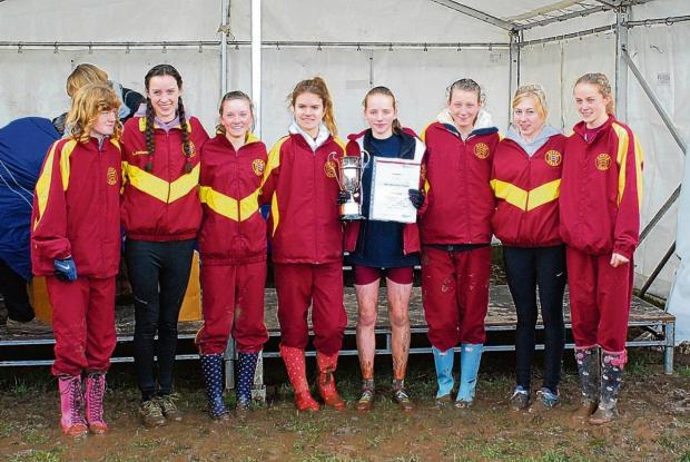 The Essex intermediate girls team that won gold at last year's English Schools Cross-Country Championships. This year's squad still hasn't been selected