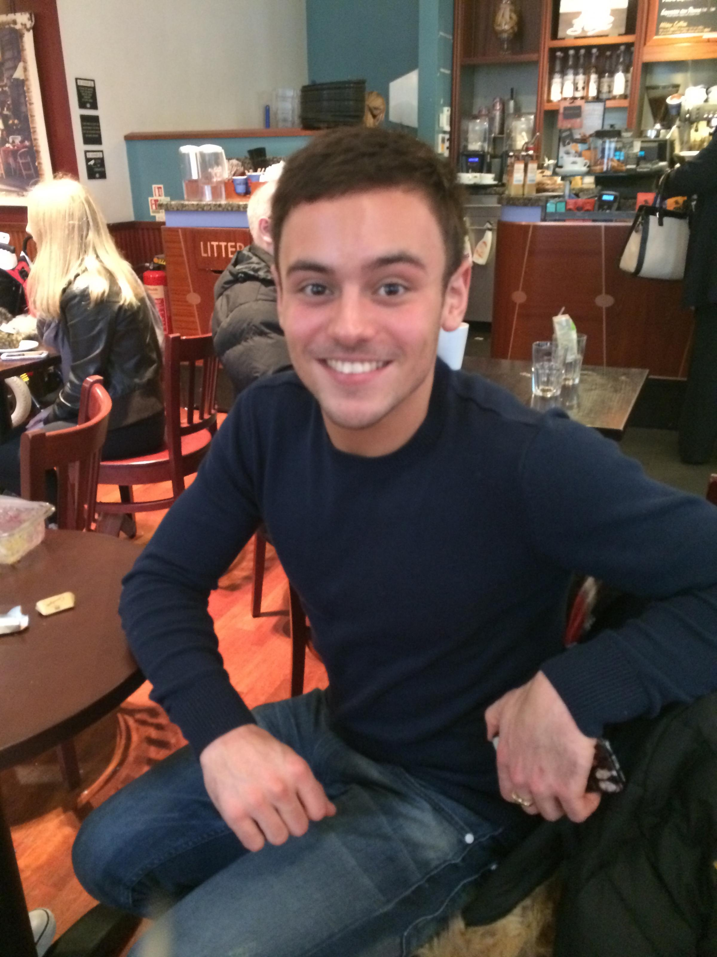 Celebrity diver Tom Daley spotted in Southend High Street