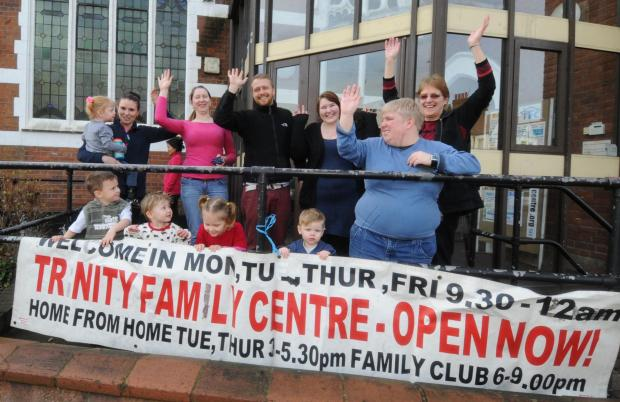 Family centre's £32k to give parents a hand: Trinity centre in Westcliff celebrating windfall