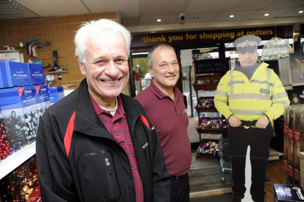 Posters and cardboard cops are bringing down shoplifting says