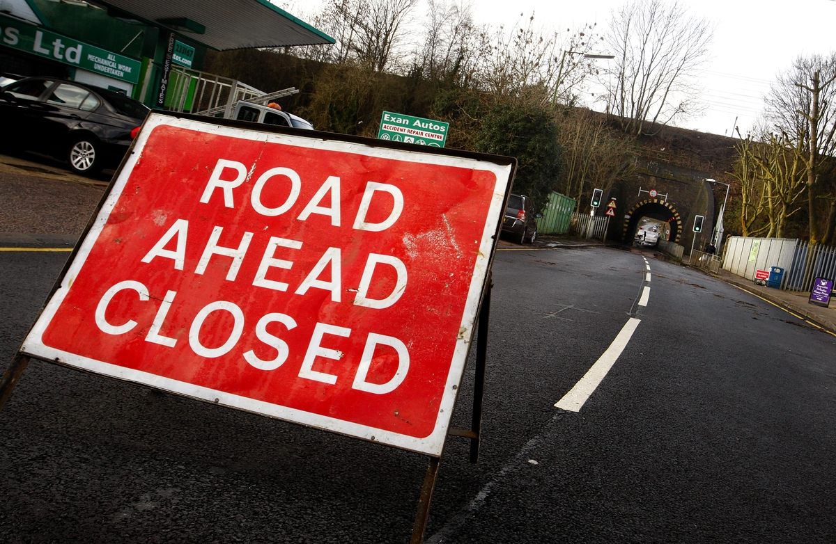 Road partially blocked after Rayleigh car accident