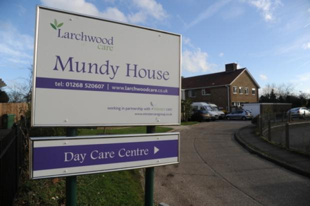 Southend Standard: Closing – Larchwood Care's sign outside Mundy House, with a separate sign for the care centre