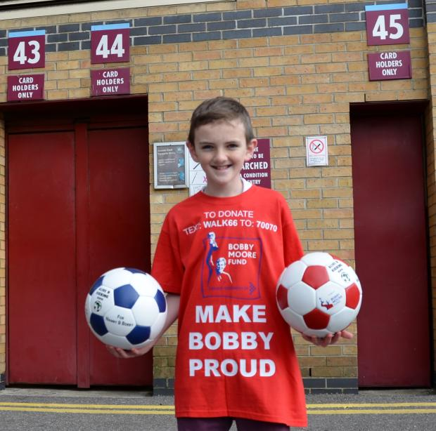 Jonjo's 50-mile dribble challenge: 12-year-old to raise £50,000 for 50-mile journey from Southend's Roots Hall to West Ham