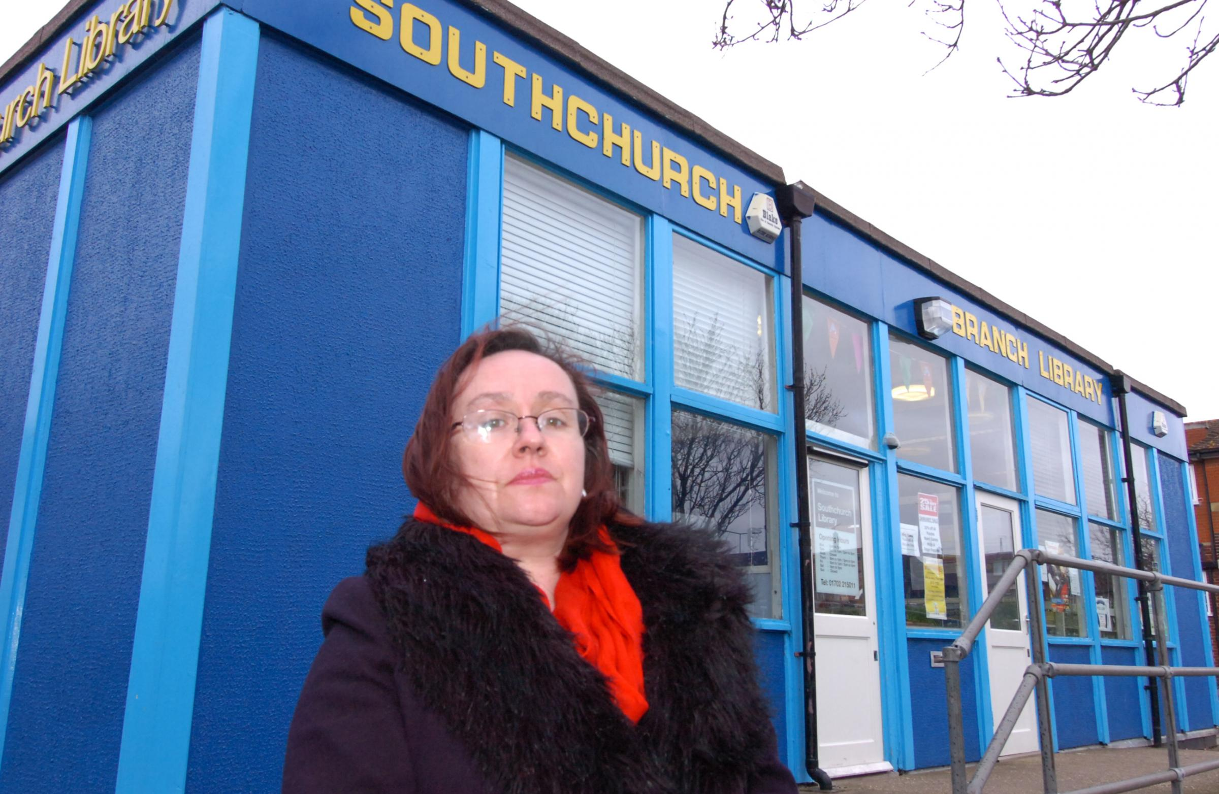 Councillor Anne Jones outside Southchurch Library