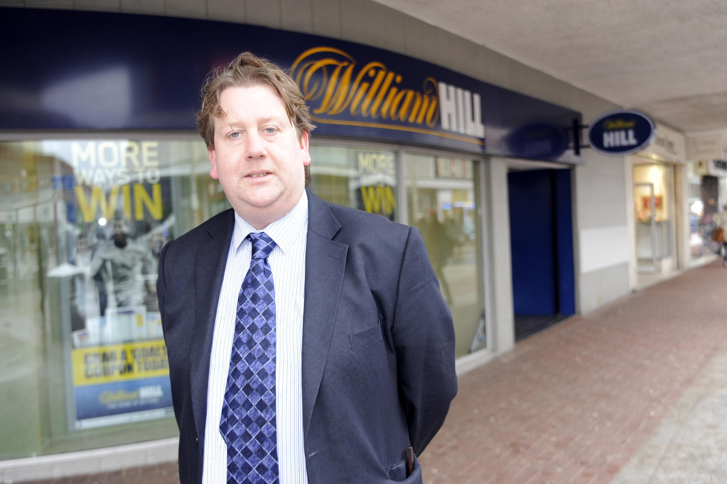Southend Councillor Ian Gilbert outside betting shop. He has criticised these machines