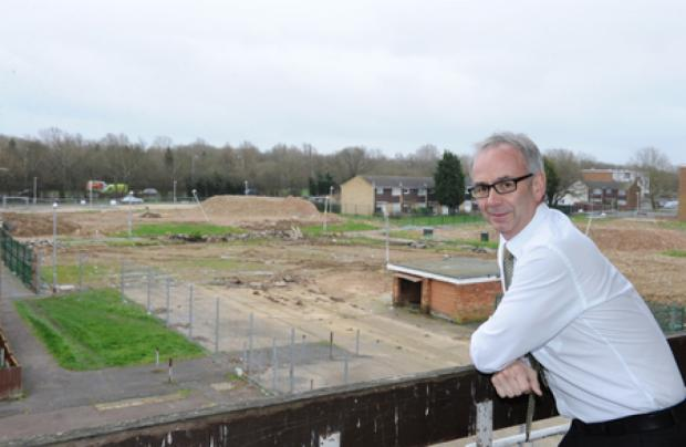 Flattened – Phil Turner surveys the site