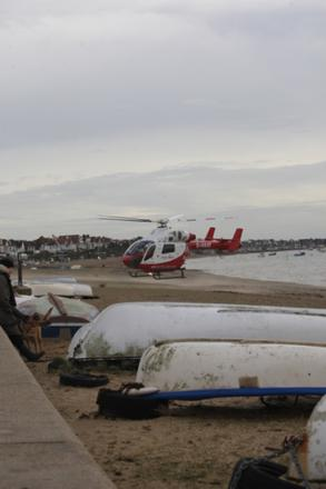 Air ambulance attend incident by Southend beach. Picture courtesy of David Childs