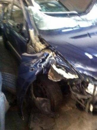 Mangled – Michelle Anthony's car was wrecked in the smash