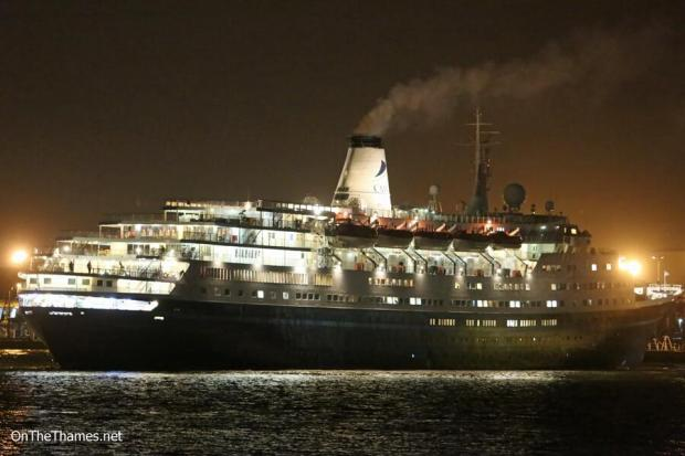 Southend Standard: marco polo returning after stormy cruise