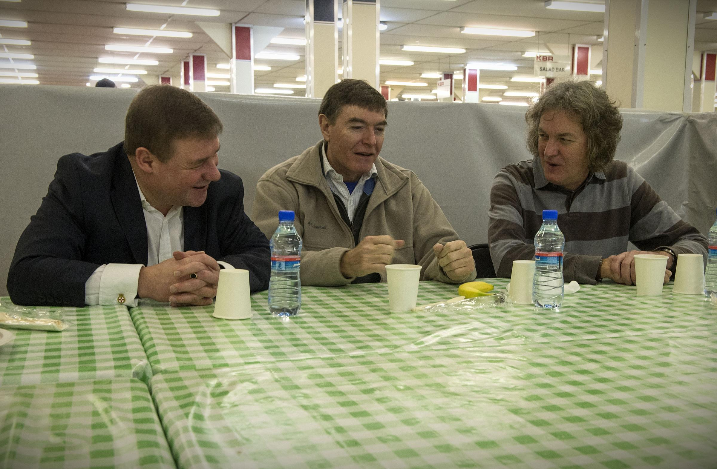 Mark Francois MP bumps into Top Gear presenter James May while on visit to Afghanistan