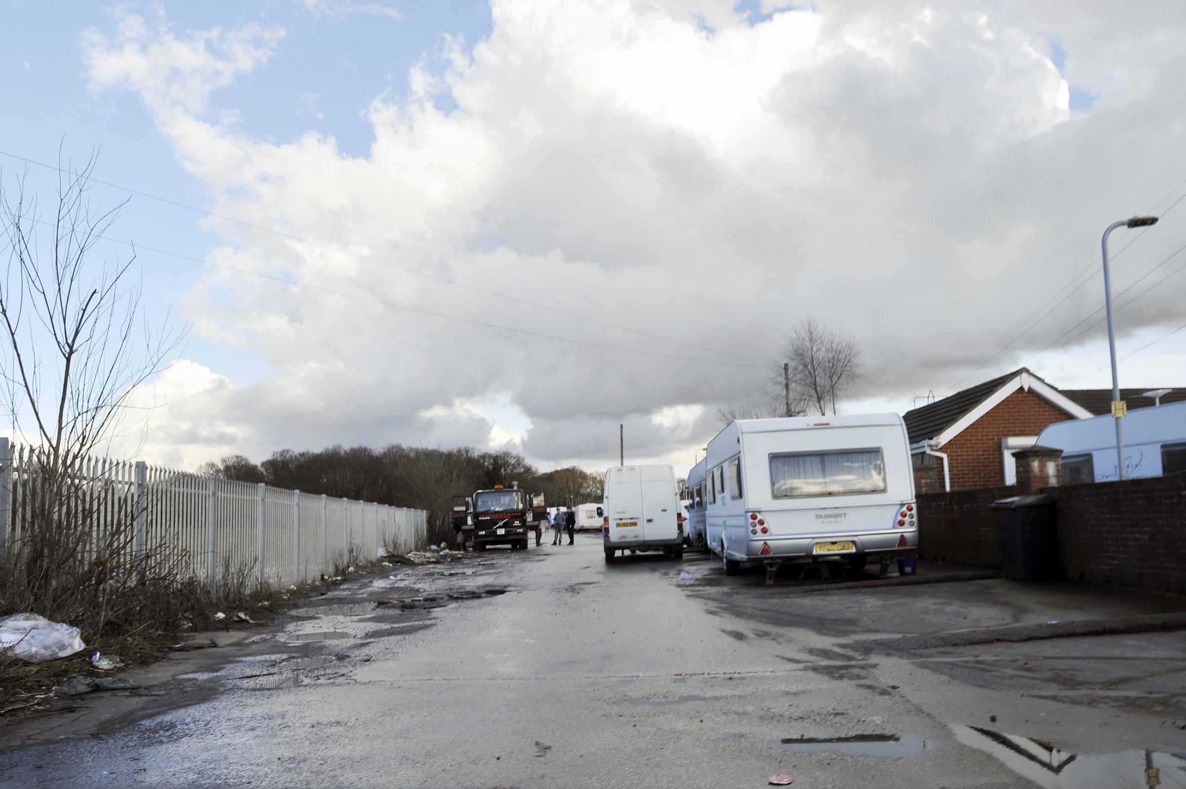 Caravans in Oak Lane this week