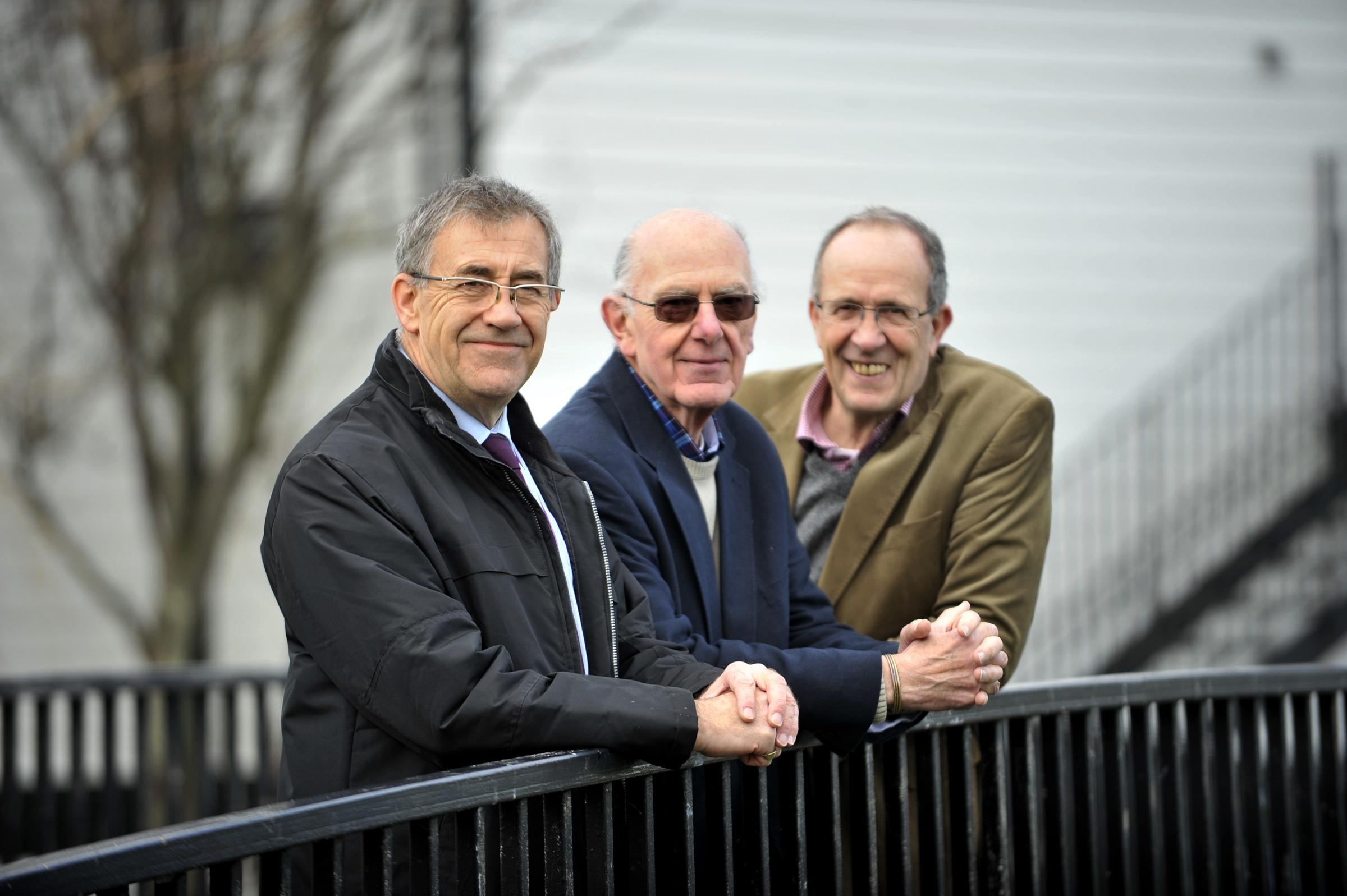 Independent councillors Martin Terry, Mike Stafford and Ron Woodley