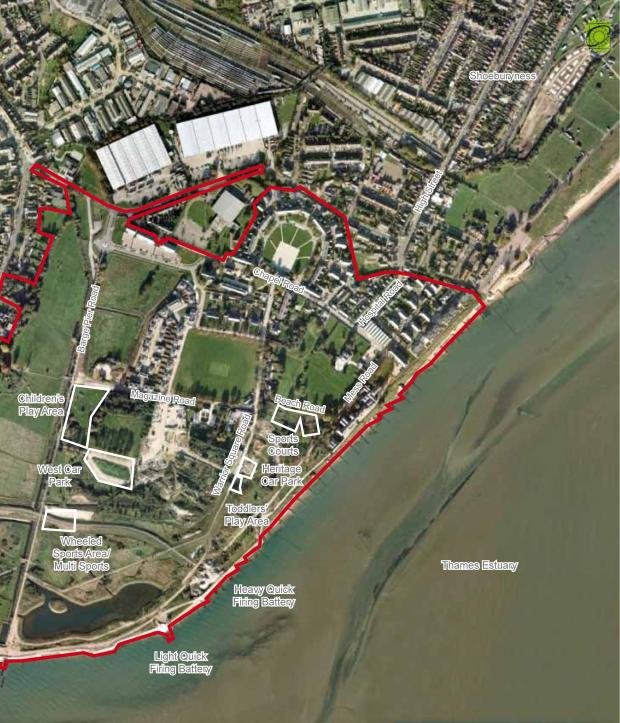 Southend Standard: Coming soon - an aerial view of the new facilities planned for the Garrison