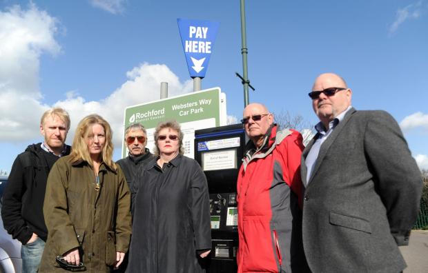 Lost vote – from left, Toby Mountain, Ian Ward, Cheryl Roe, Dave Sperring, Mark Hale and Angela Hale