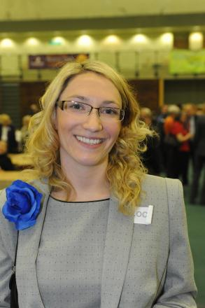 Louise Burdett, who is to stand down as councillor for Kursaal