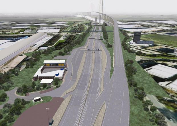 Southend Standard: Is this how the free-flow toll system at the Dartford Crossing will look?