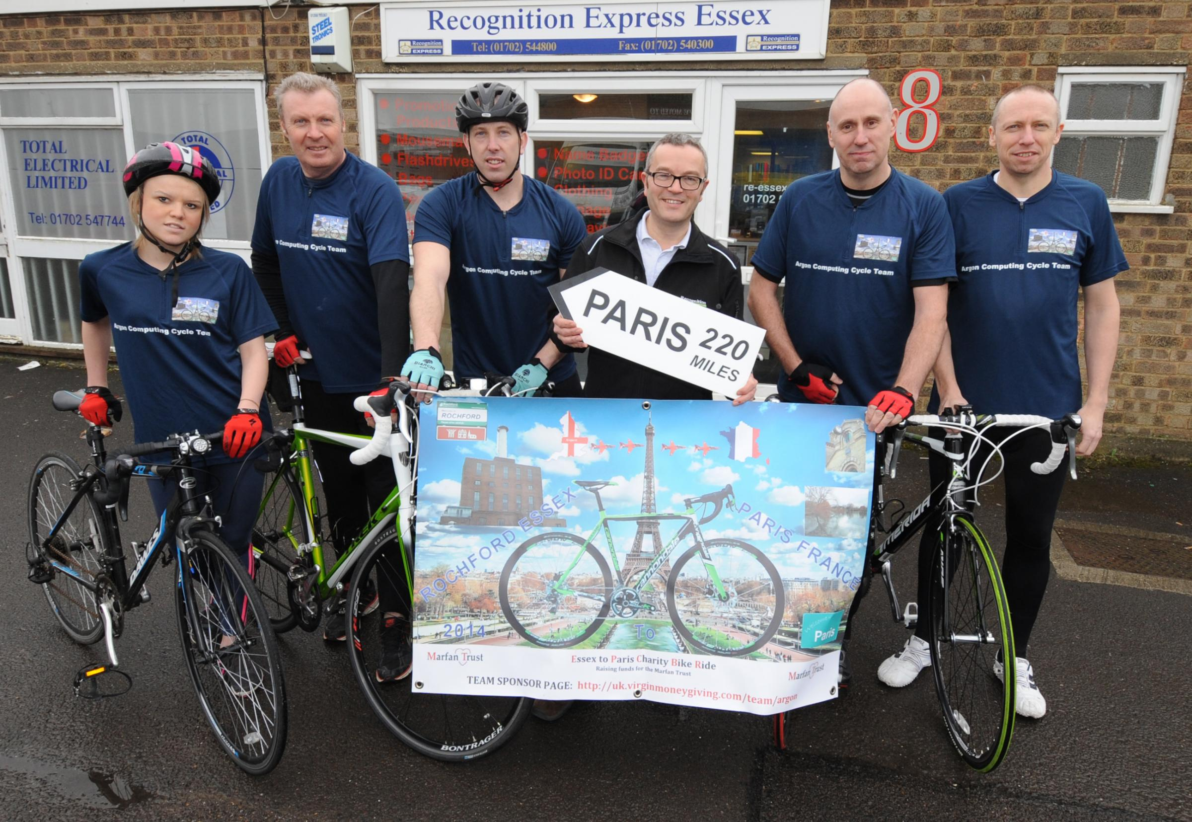 Ready to ride – Chelsea Stock, Don Graves, Stephen O'Leary, Kevin Buckle, Jason Smith and sponsor Graham Marshall