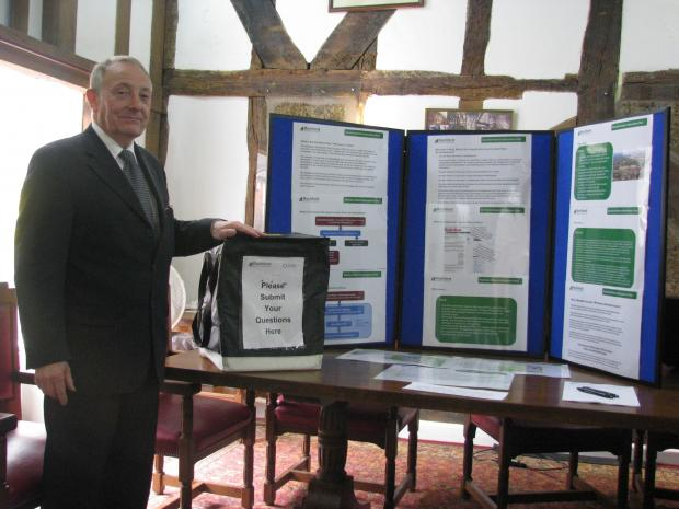 Housing targets - Keith Hudson by the planning display