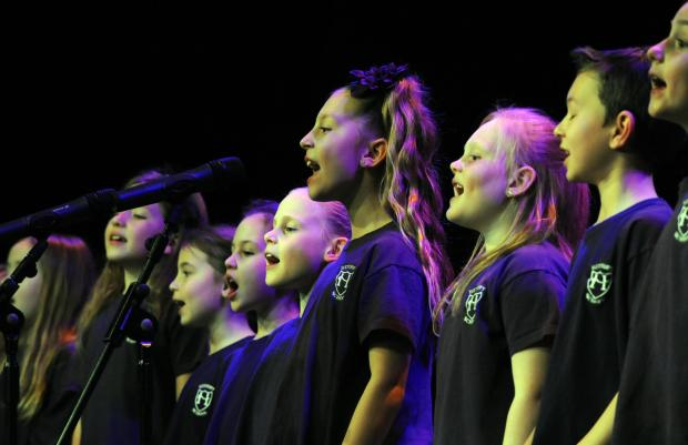 Southend Schools Music Festival at the Palace Theatre, Westcliff. Heycroft Primary School Choir