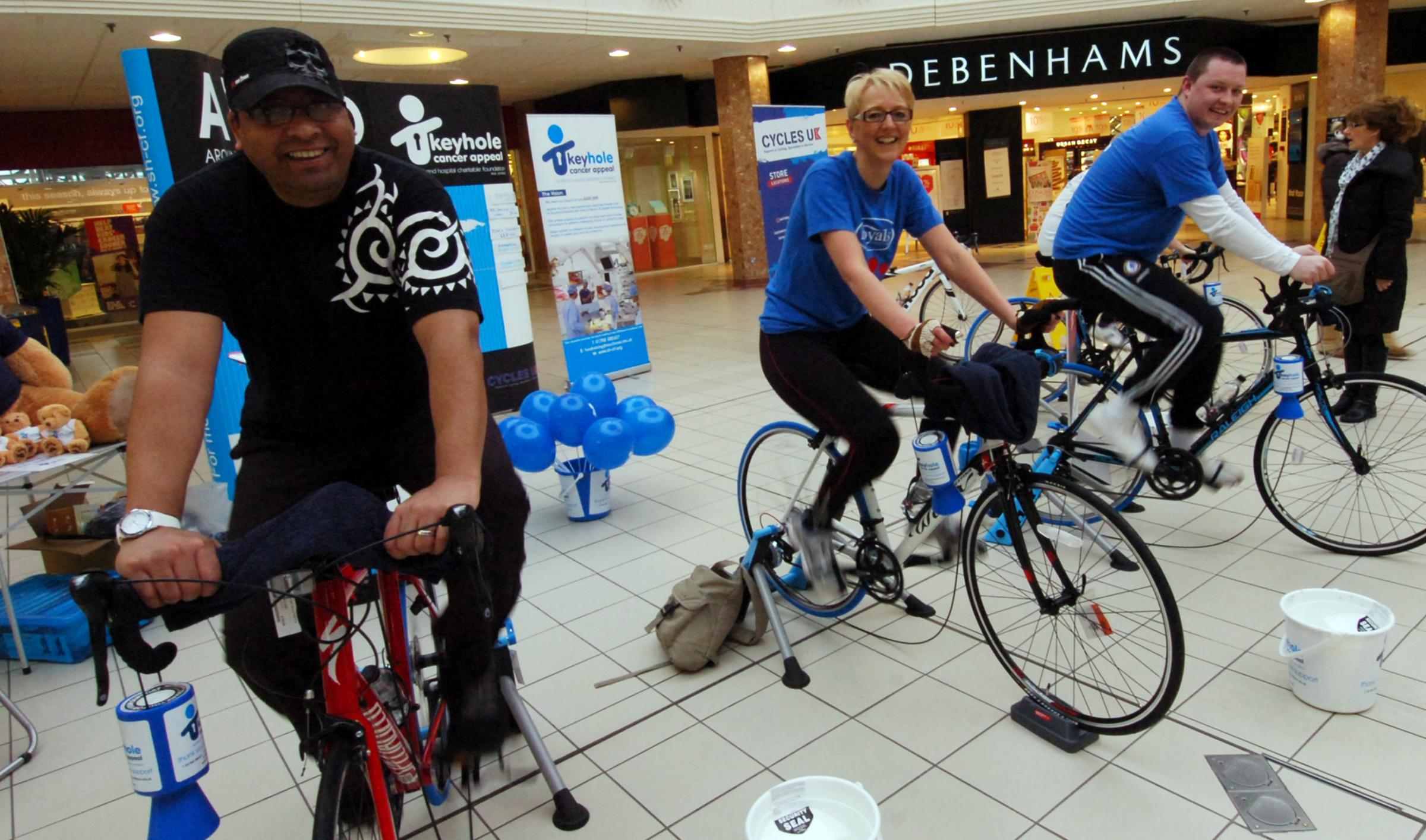 Cyclists hit the £10,000 mark for surgery centre