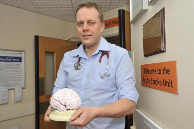 Southend Standard: Southend stroke specialist - Dr Paul Guyler says a single super-unit in Southend would be best for patients from all over Essex