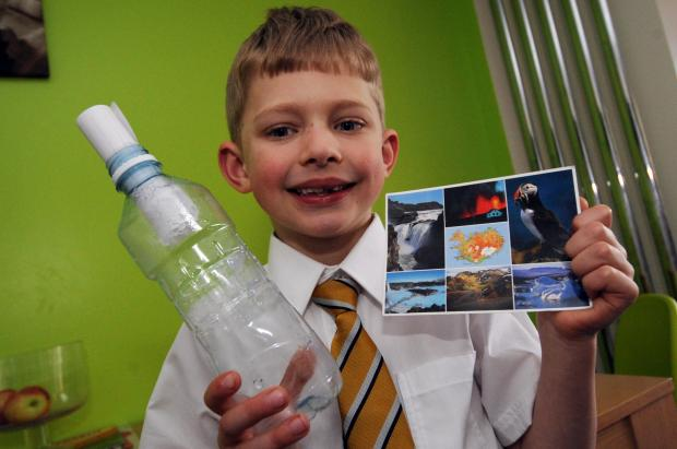 Message in a bottle by Billy, 6, is washed up in Iceland!