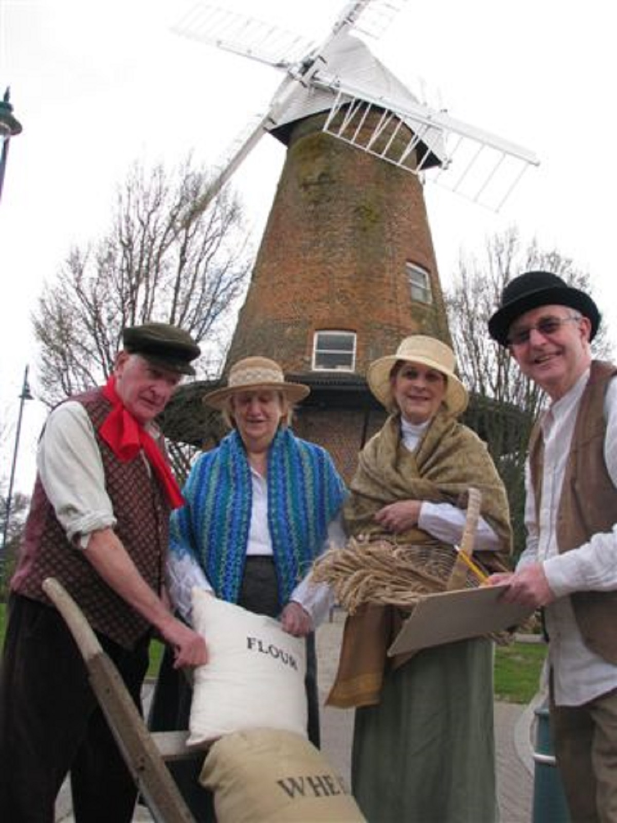 Windmill volunteers Bill Salmon, Viv Irvine, Jane Scoggins and Trevor Rand
