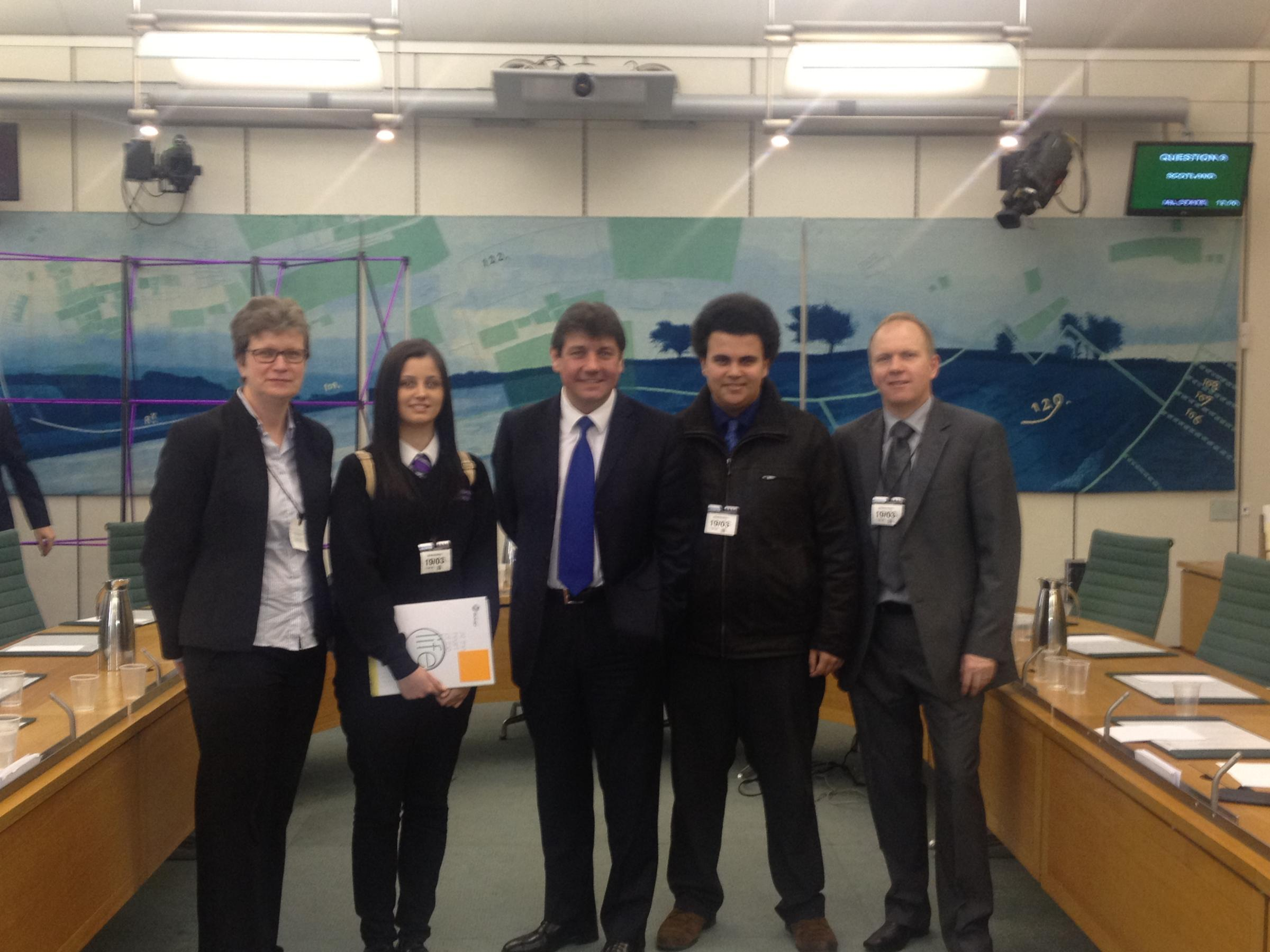 Teenagers quiz MPs in Parliament