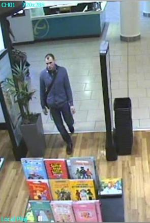 The man pictured in the CCTV image is described as white, aged in his late 20s and gaunt-looking.