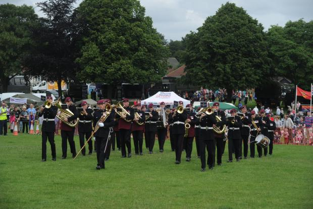 Martial music – the band of the Parachute Regiment entertaining the crowds at St George's Field, Rayleigh Armed Forces Day last year