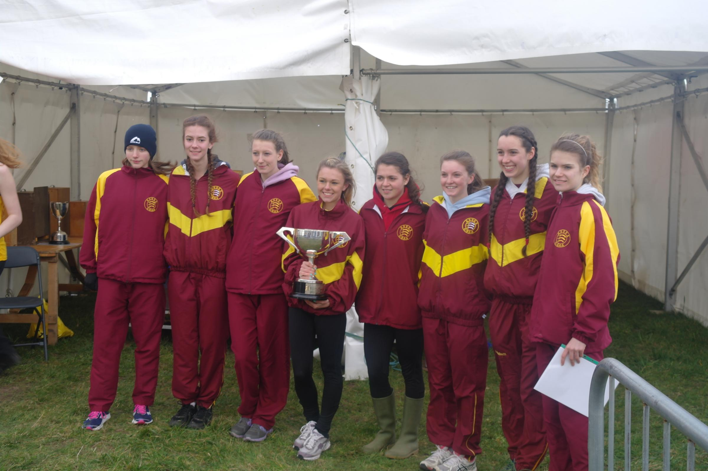 The Essex senior girls team